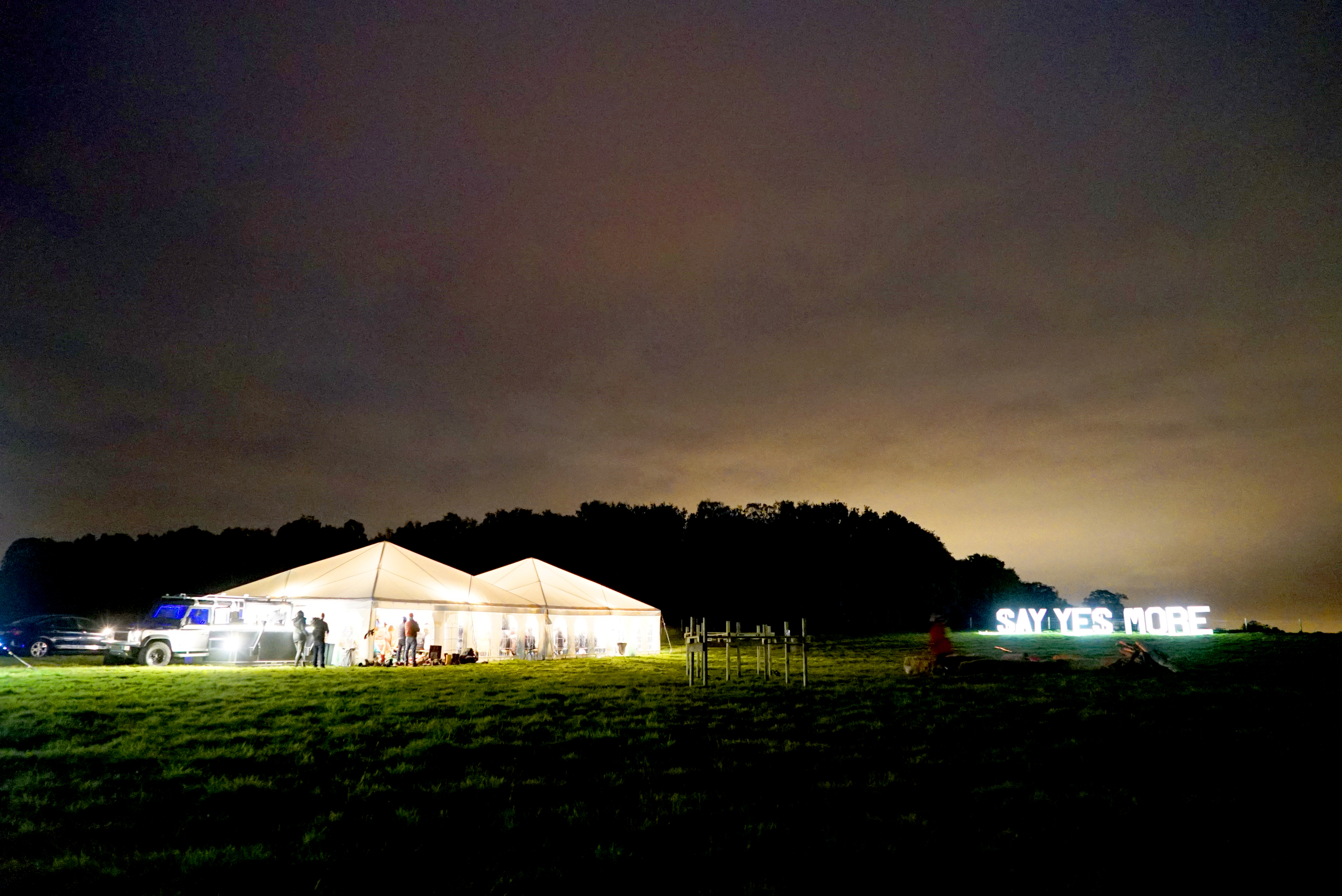 Yestival 2017 is held on the 20-22 October weekend in a field of dreams in Sussex.  Join us!
