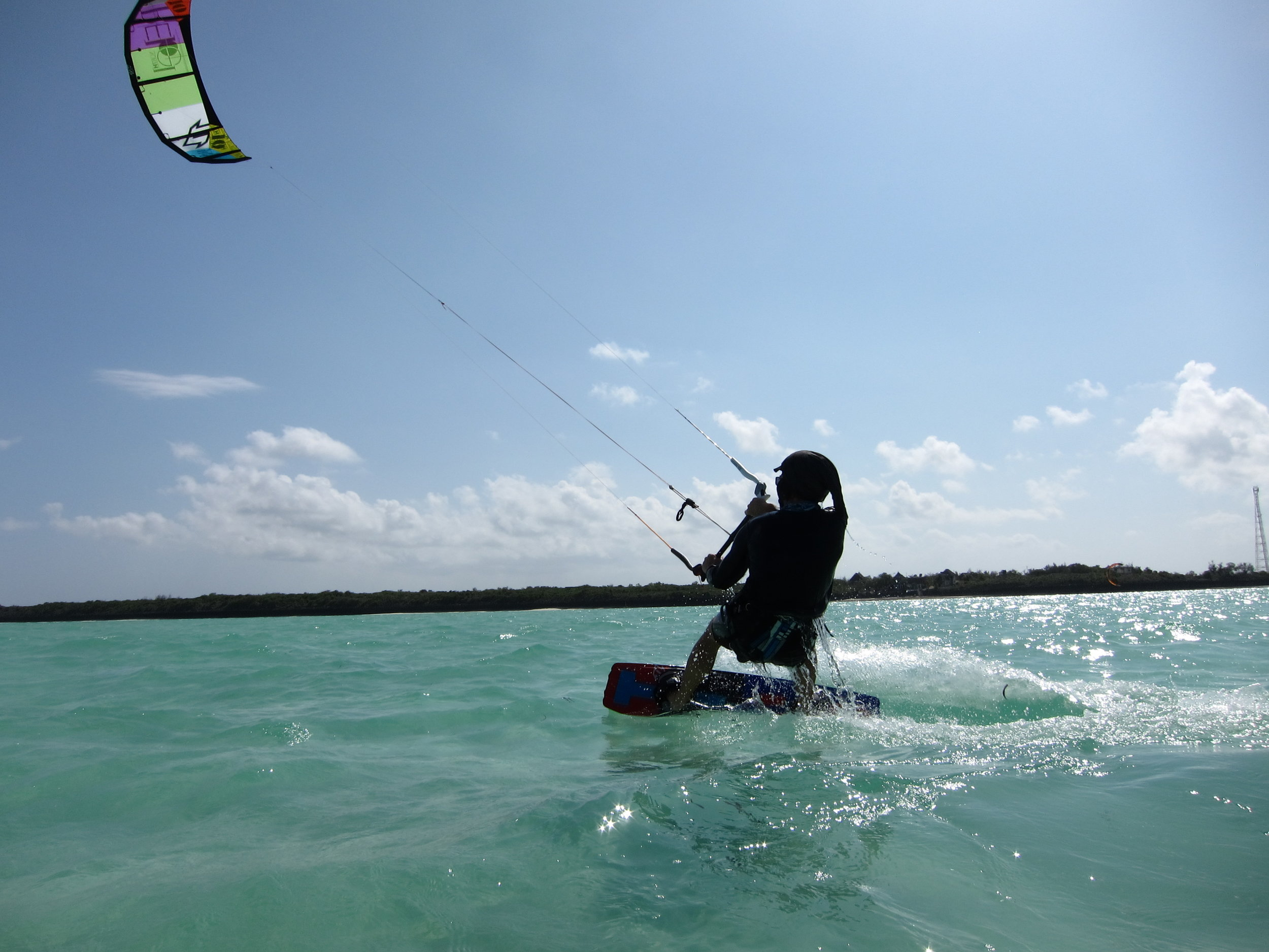 Preparing for a kitesurfing journey in Zanzibar. Investing your own money into training and ensuring you document it well can help push sponsors over the line for the final mission.