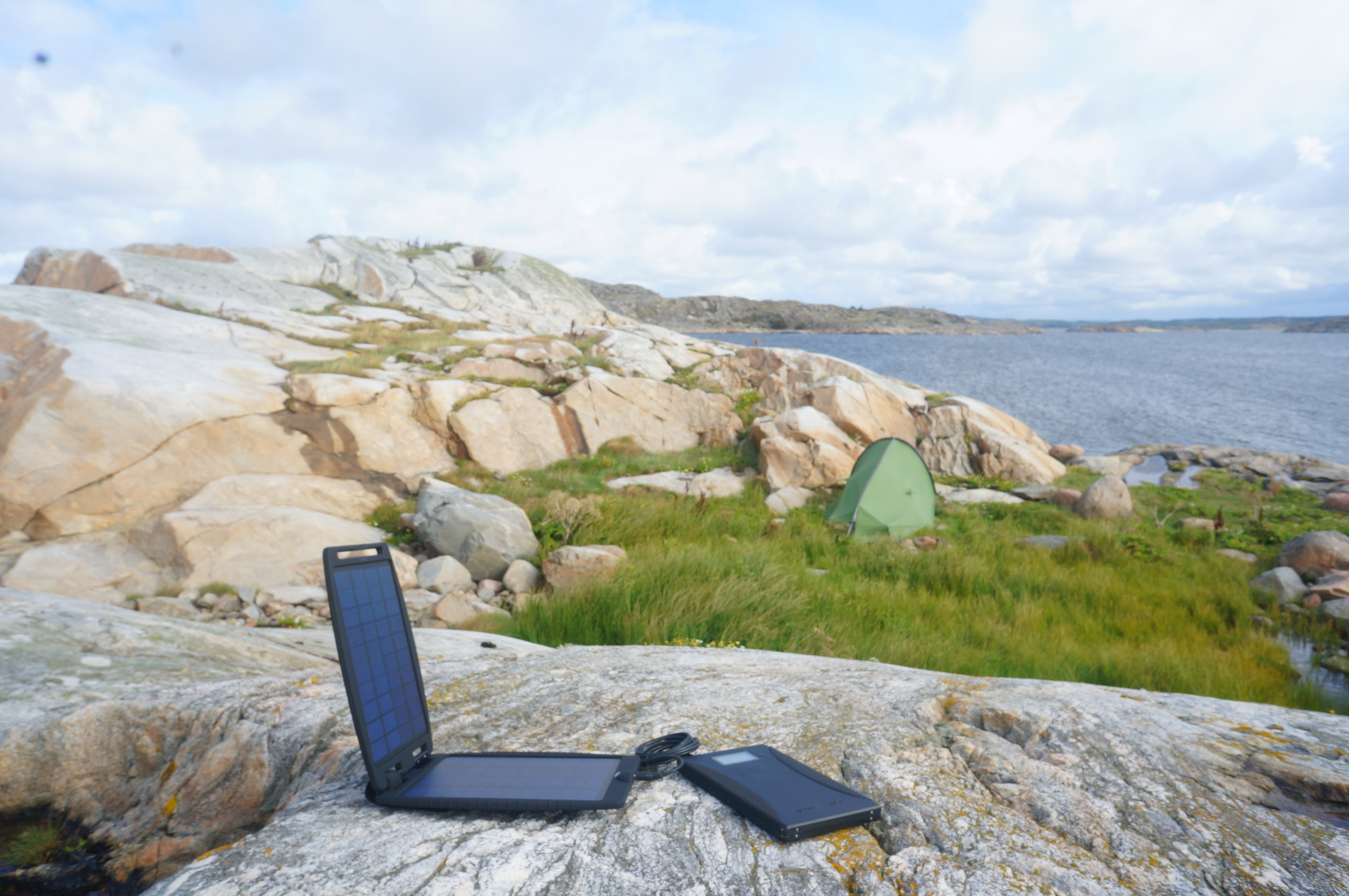 Mobile office and charging system off the coast of West Sweden