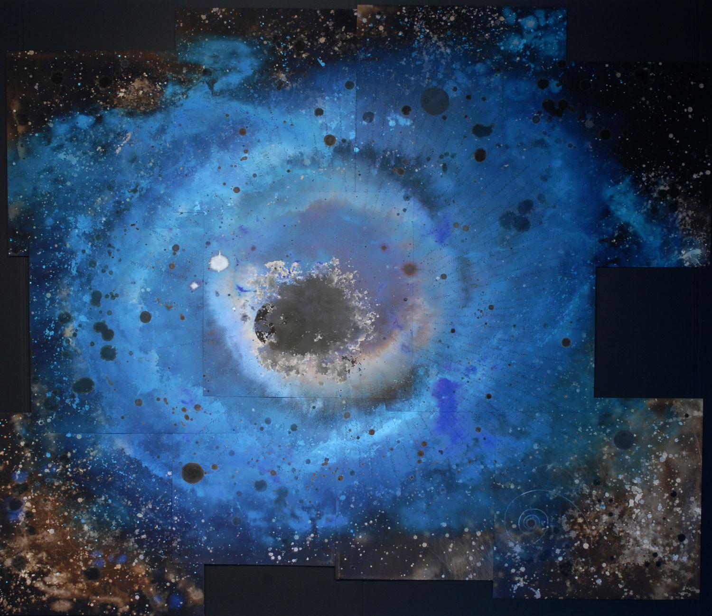 Ouvrir l'oeil assemblage de 11 estampes numériques 214 x 275 cm
