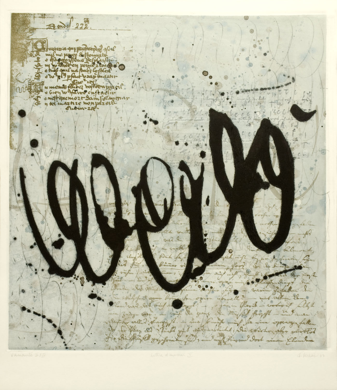 lettre d'amour V, 47 x 50 cm
