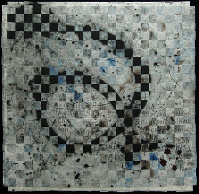 échec et mat, 48 x 48 cm