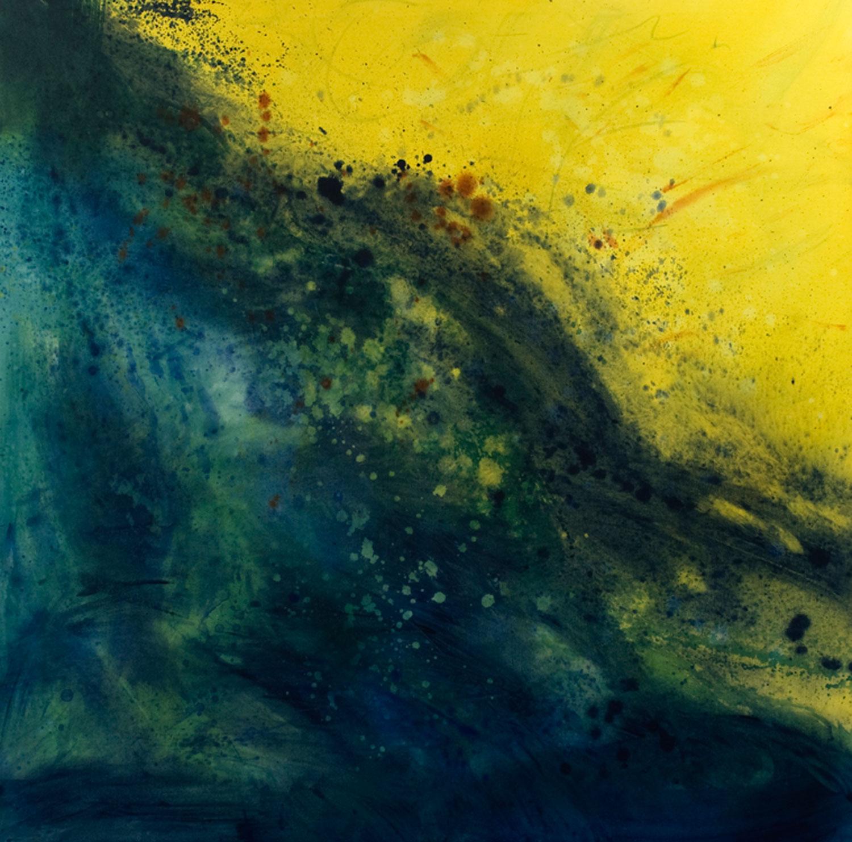 Cascade II acrylique sur toile 119 x 119 cm