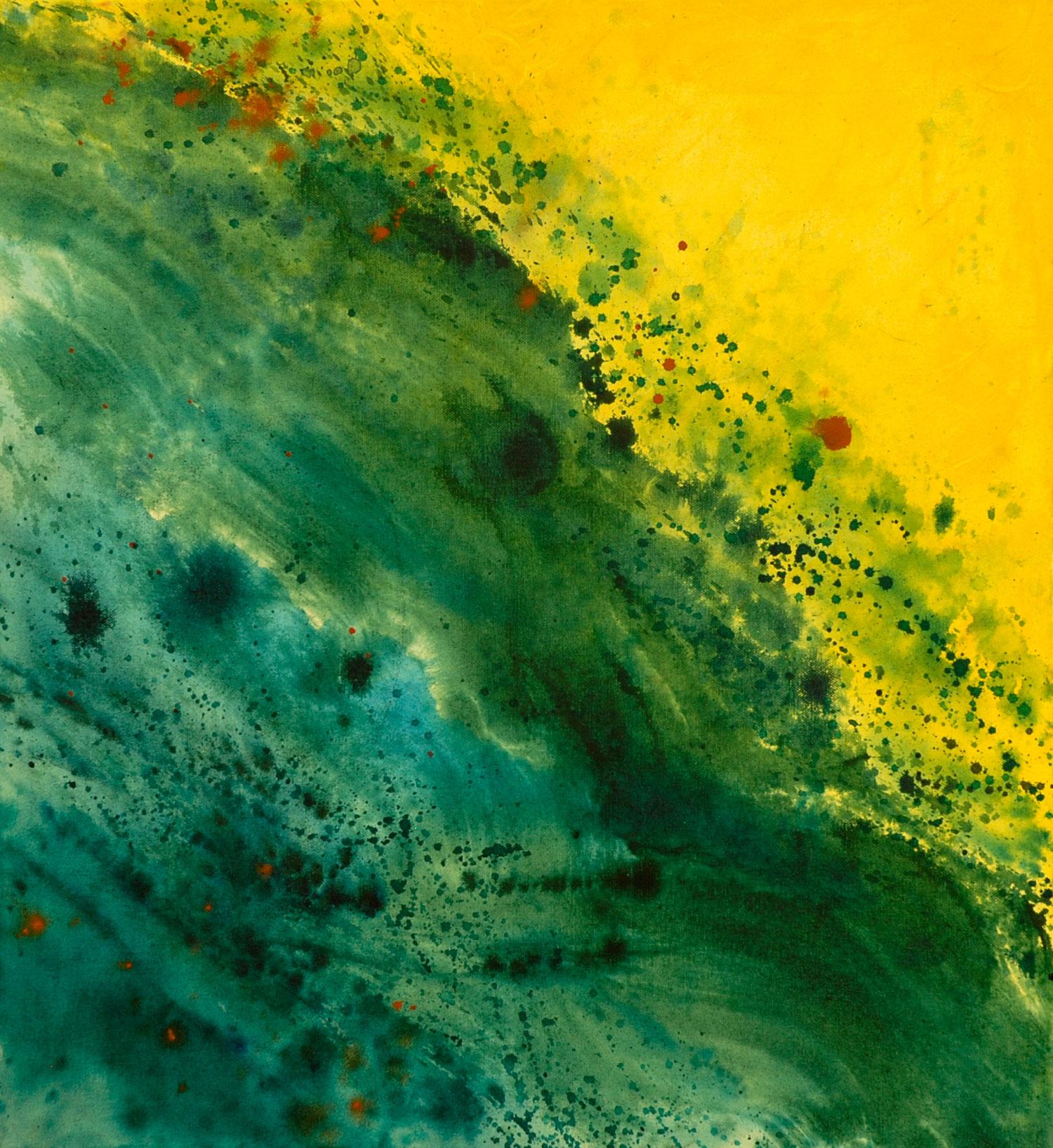 Cascade II acrylique sur toile 61 x 56 cm