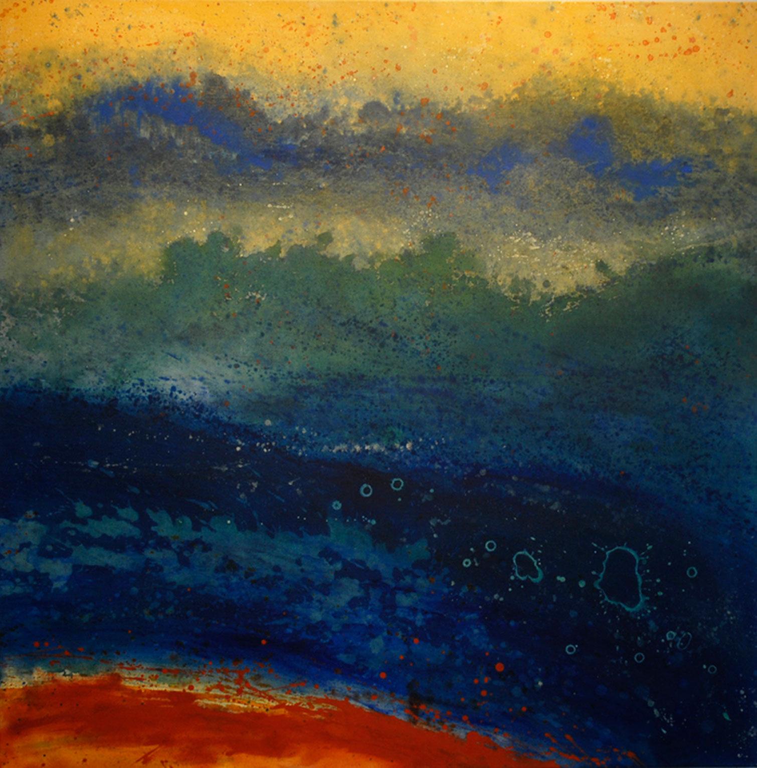 les lucioles acrylique sur toile 91 x 91 cm