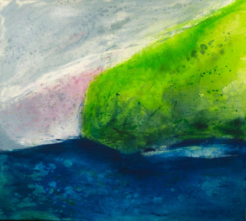 là-bas dans les Îles acrylique sur toile 91 x 102 cm