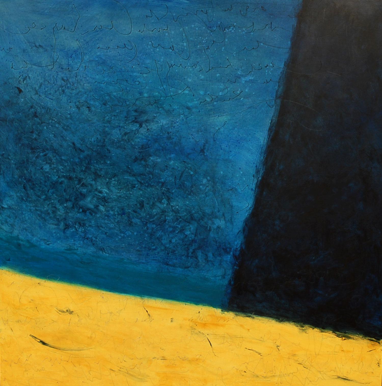 alizé acrylique sur bois 91 x 91 cm