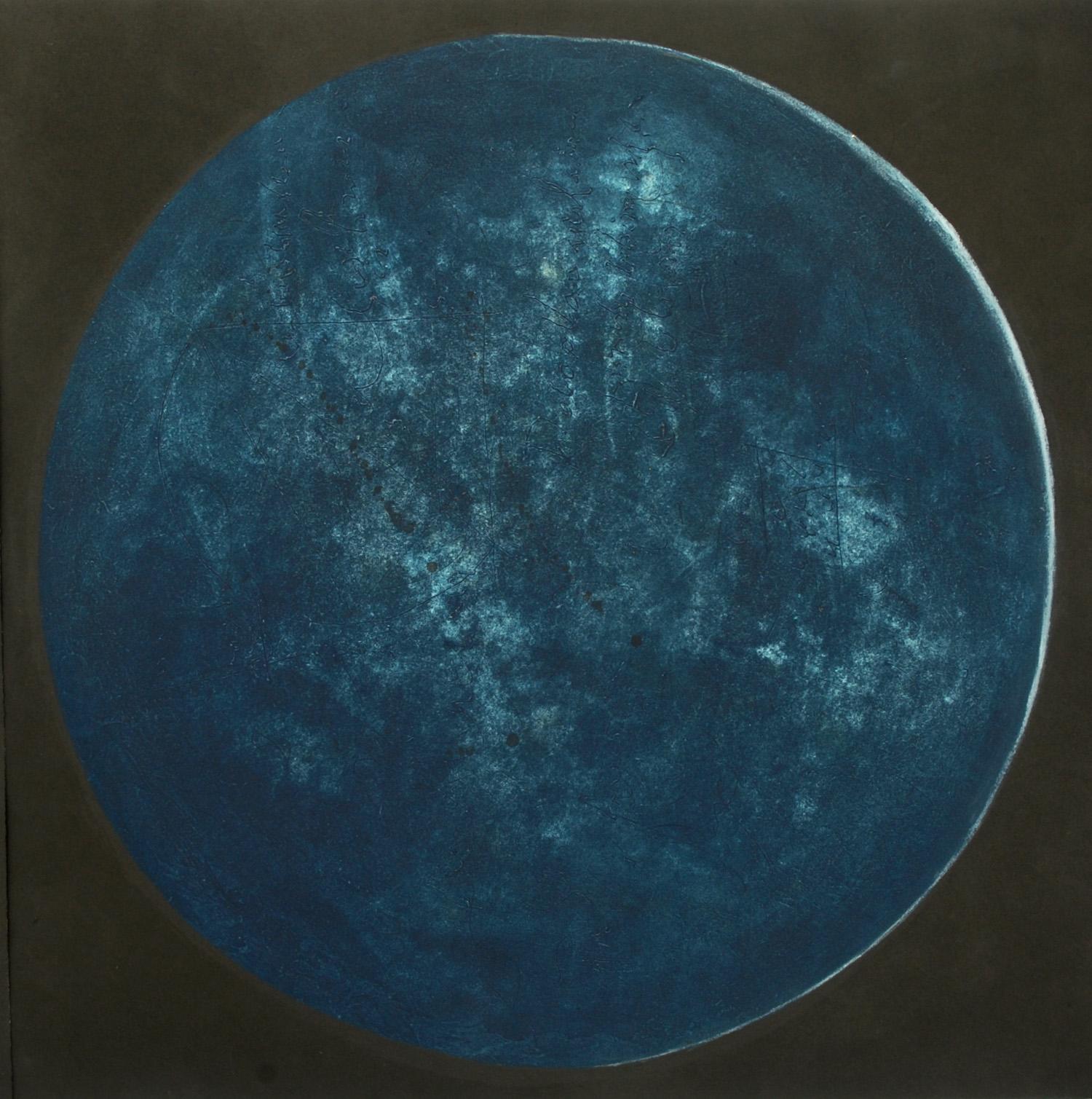 Lumière dans la nuit VI, essai, estampe, 57 x 57 cm