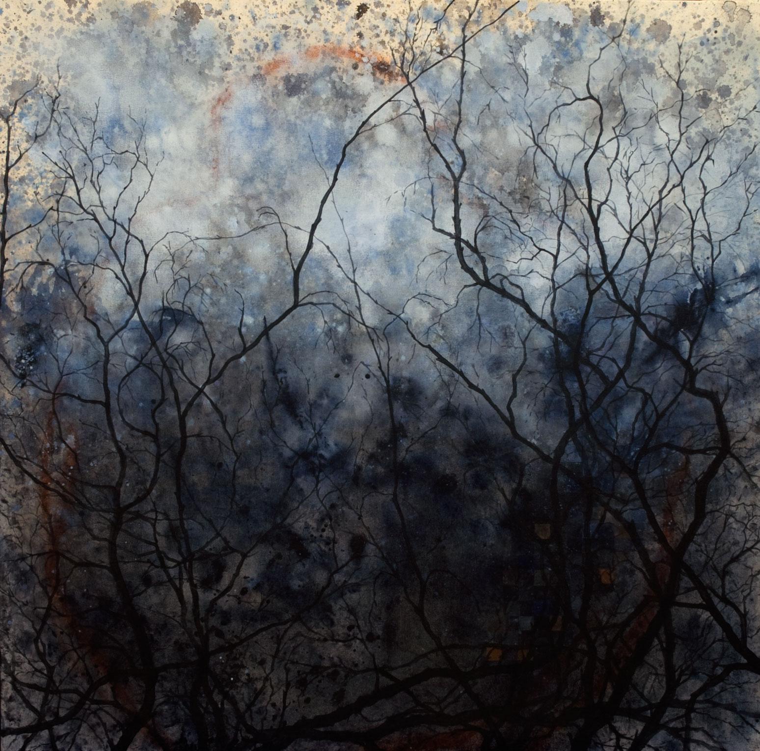 entre ciel et terre no 2 acrylique sur toile 91 x 91 cm