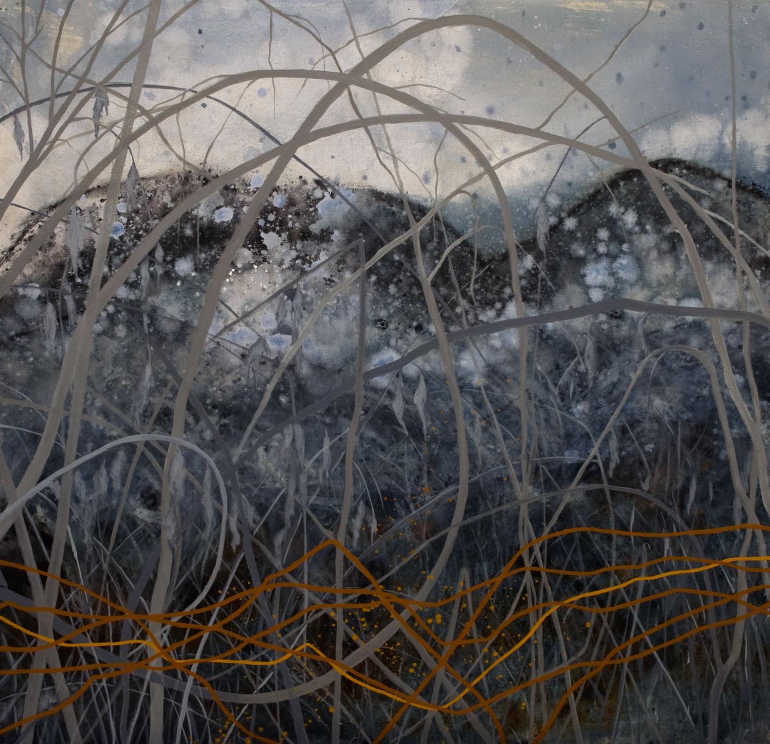 Les lucioles no2 acrylique sur toile  91 x 91 cm