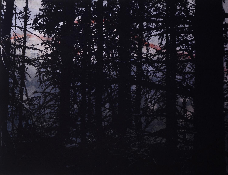 Crépuscule  46 x 61 cm  techniques mixtes sur toile