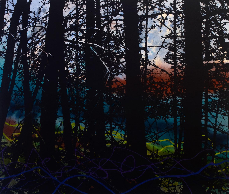 Portage  101 x 122 cm  techniques mixtes sur toile