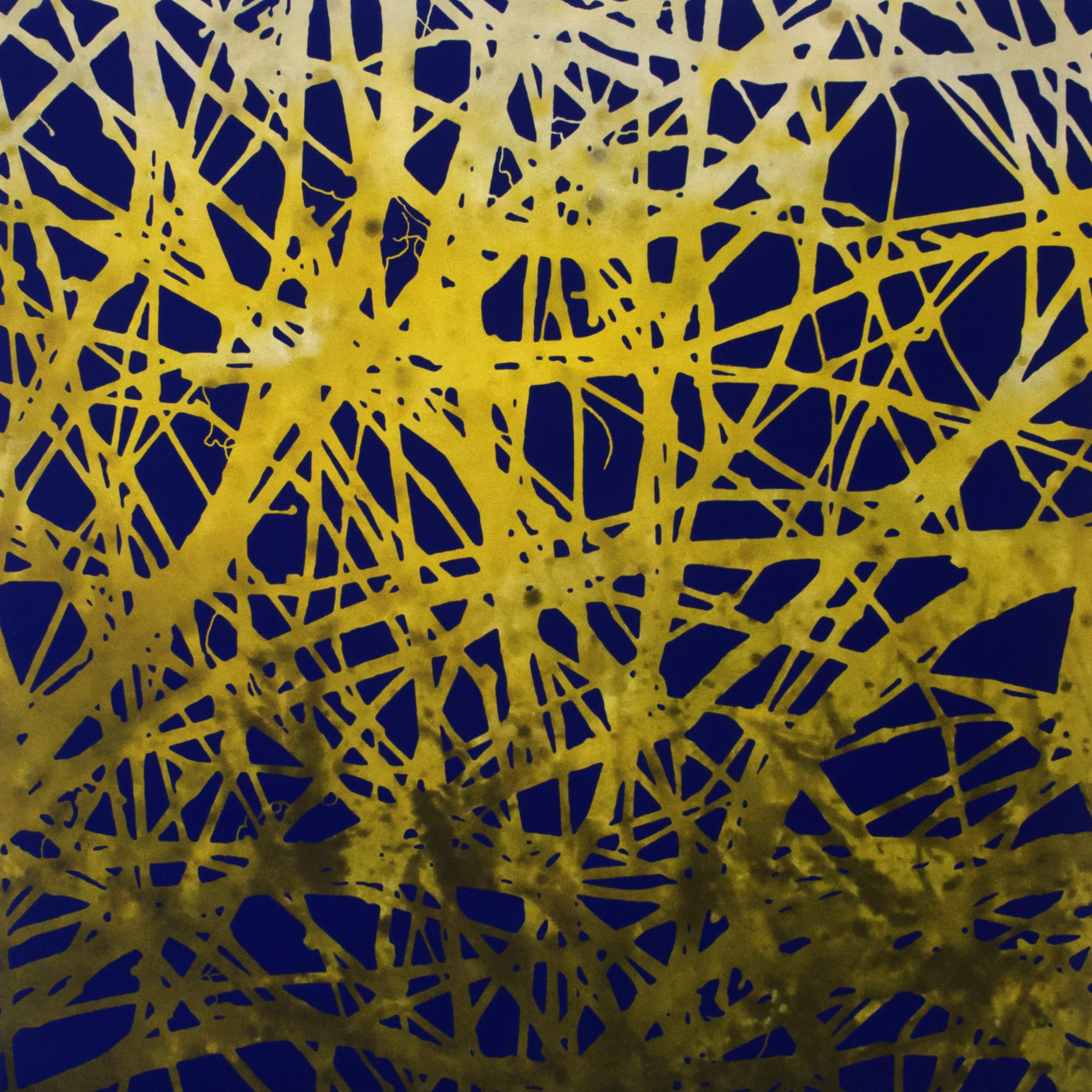Liens II  impression jet d'encre pigmentaire sur toile marouflée sur panneau de bois 1/1  91 x 91 cm
