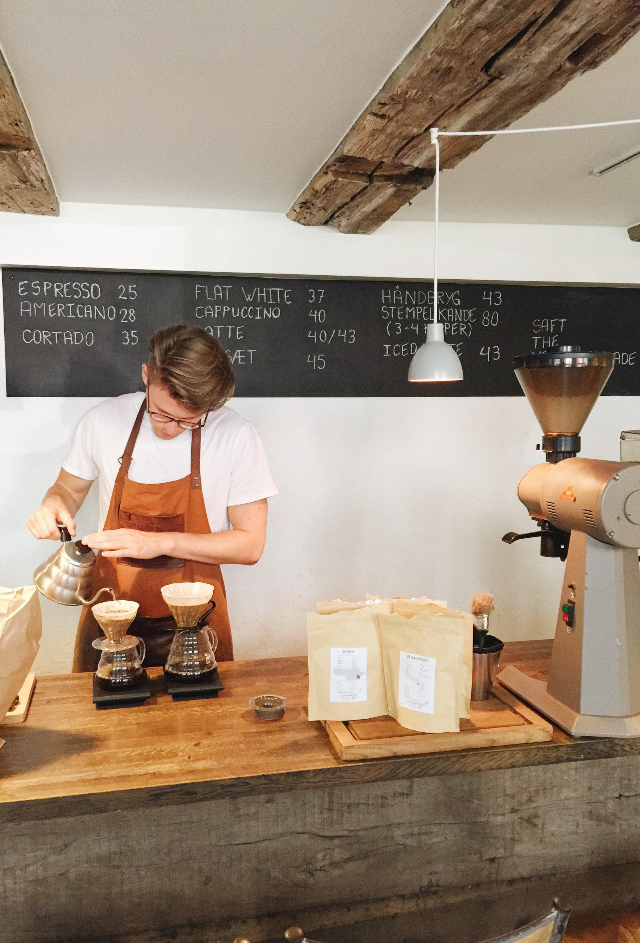 Copenhagen Coffee Lab's café in central Copenhagen