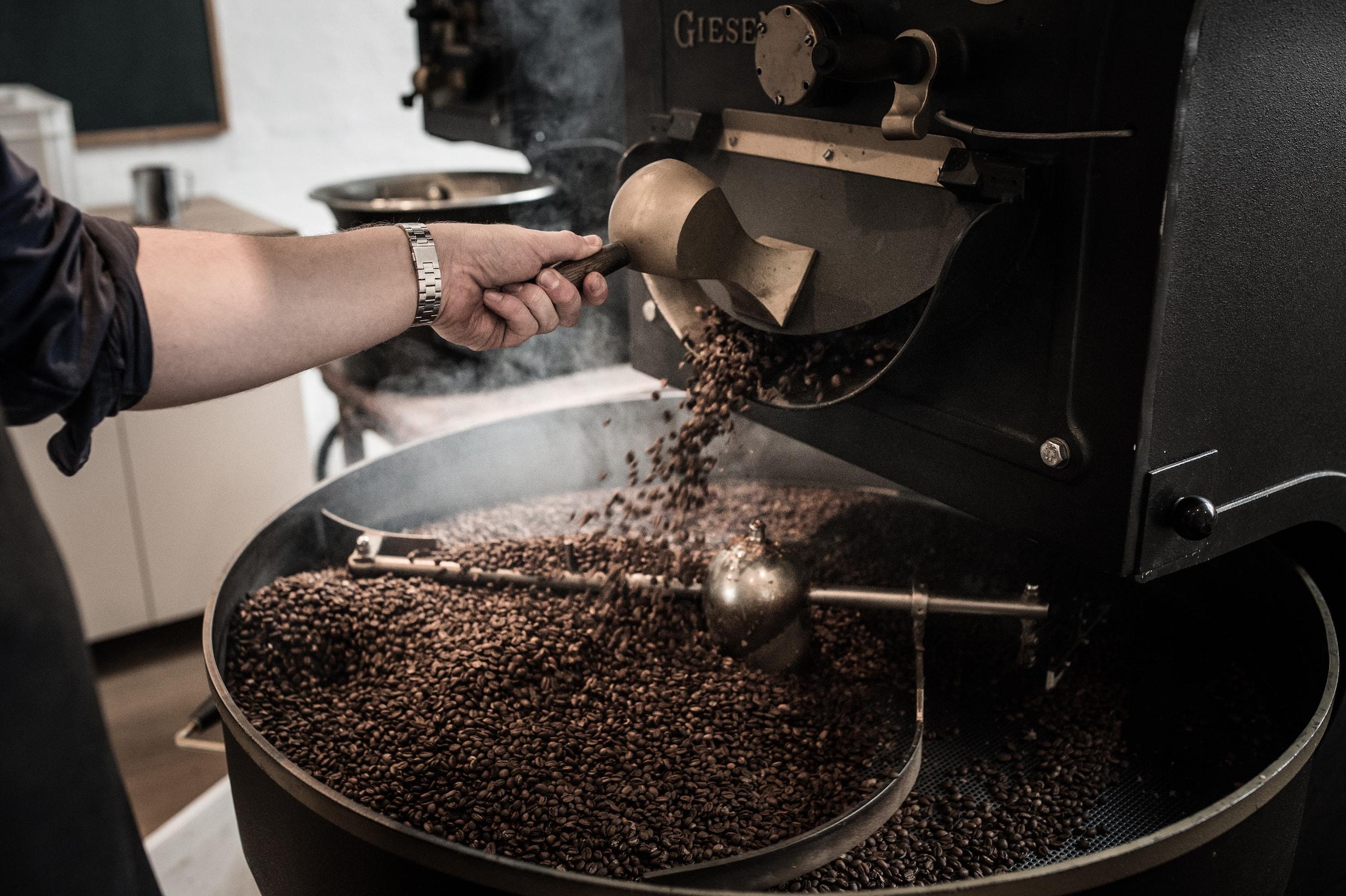 Copenhagen Coffee Lab roasting on a Giesen