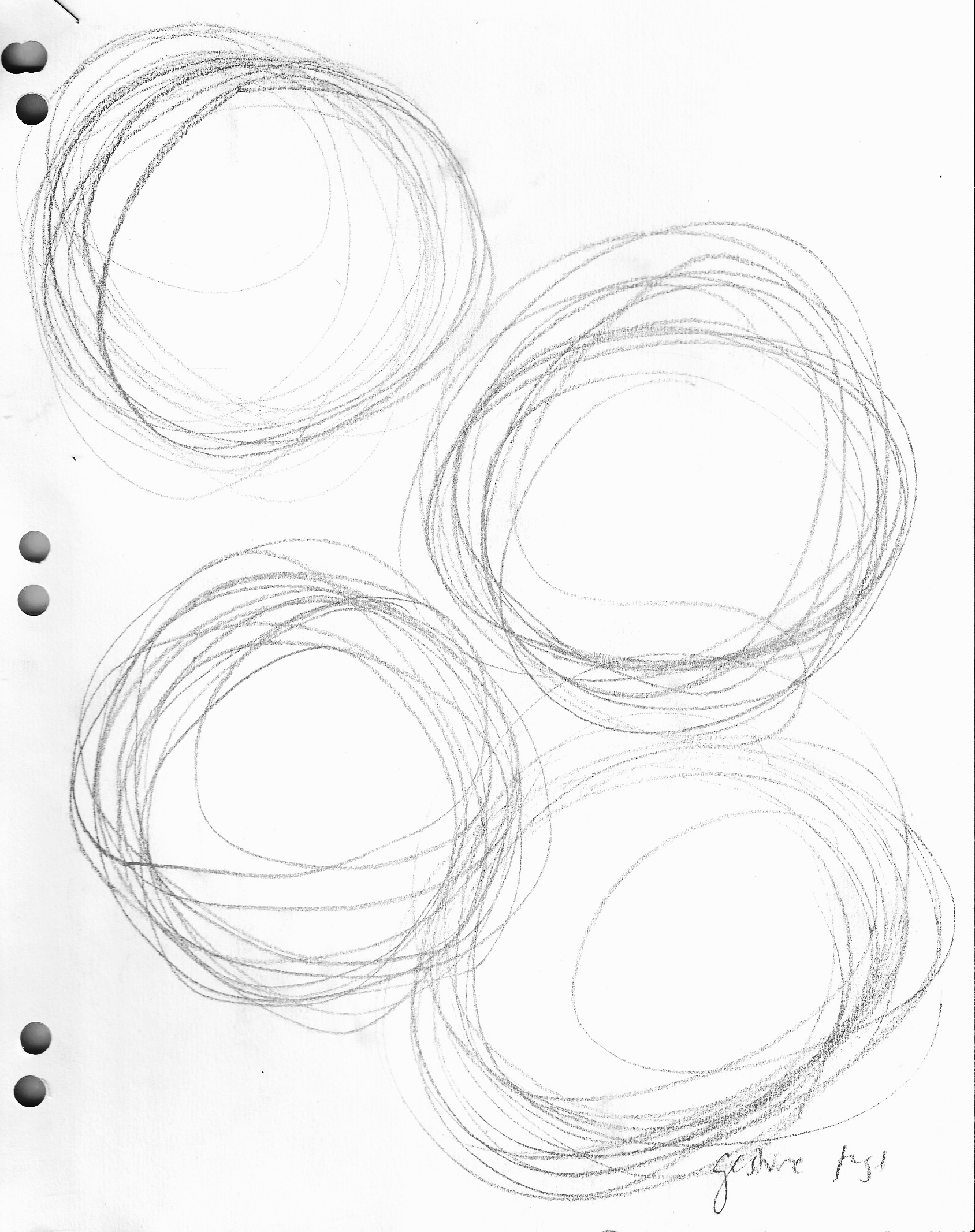 Interface Research.  To determine the most naturally sized circle, I asked friends (with varying hand sizes) to draw relaxed circles on paper. I collected over fifty circles and averaged their diameters to come up with the final dimensions.