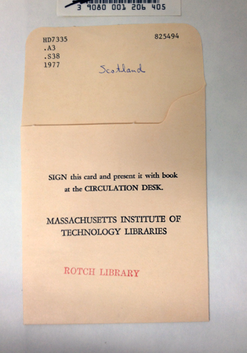 Concept 2.  Library Circulation Cards