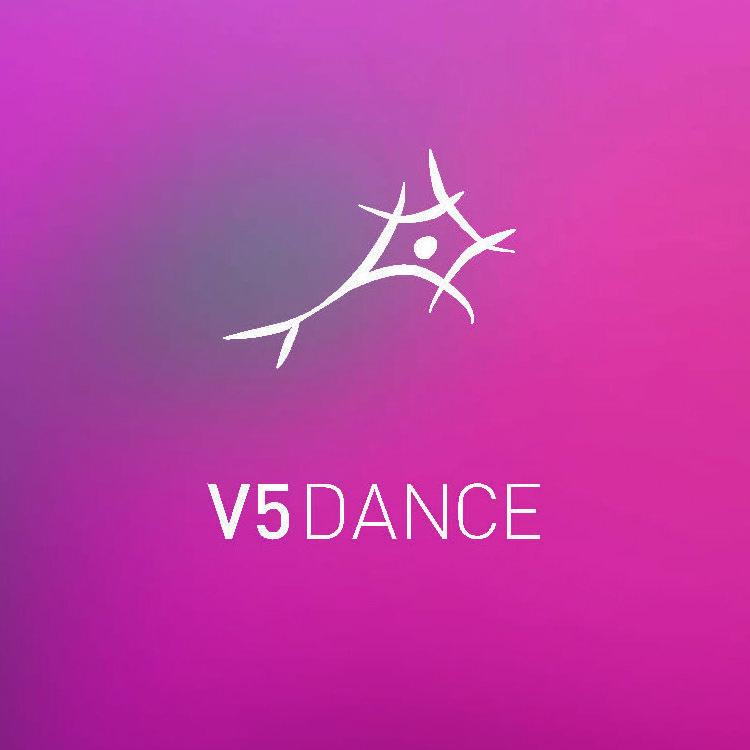 Original logo for Boston-based V5 Dance studio.