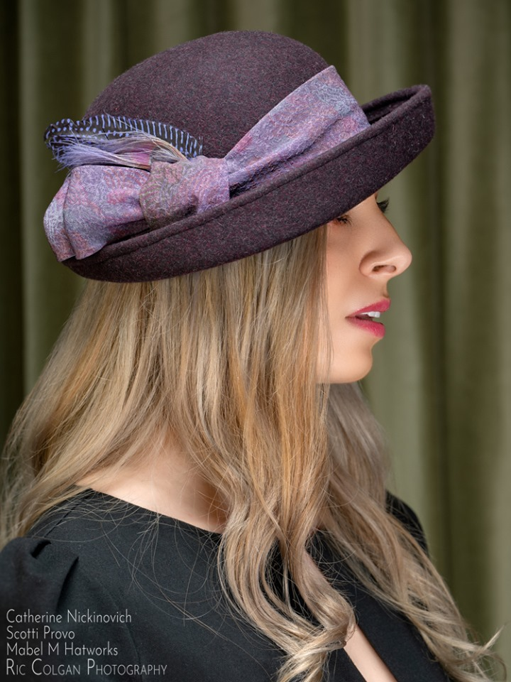 Michale's Violet Wool Stingy Cloche 2.jpg