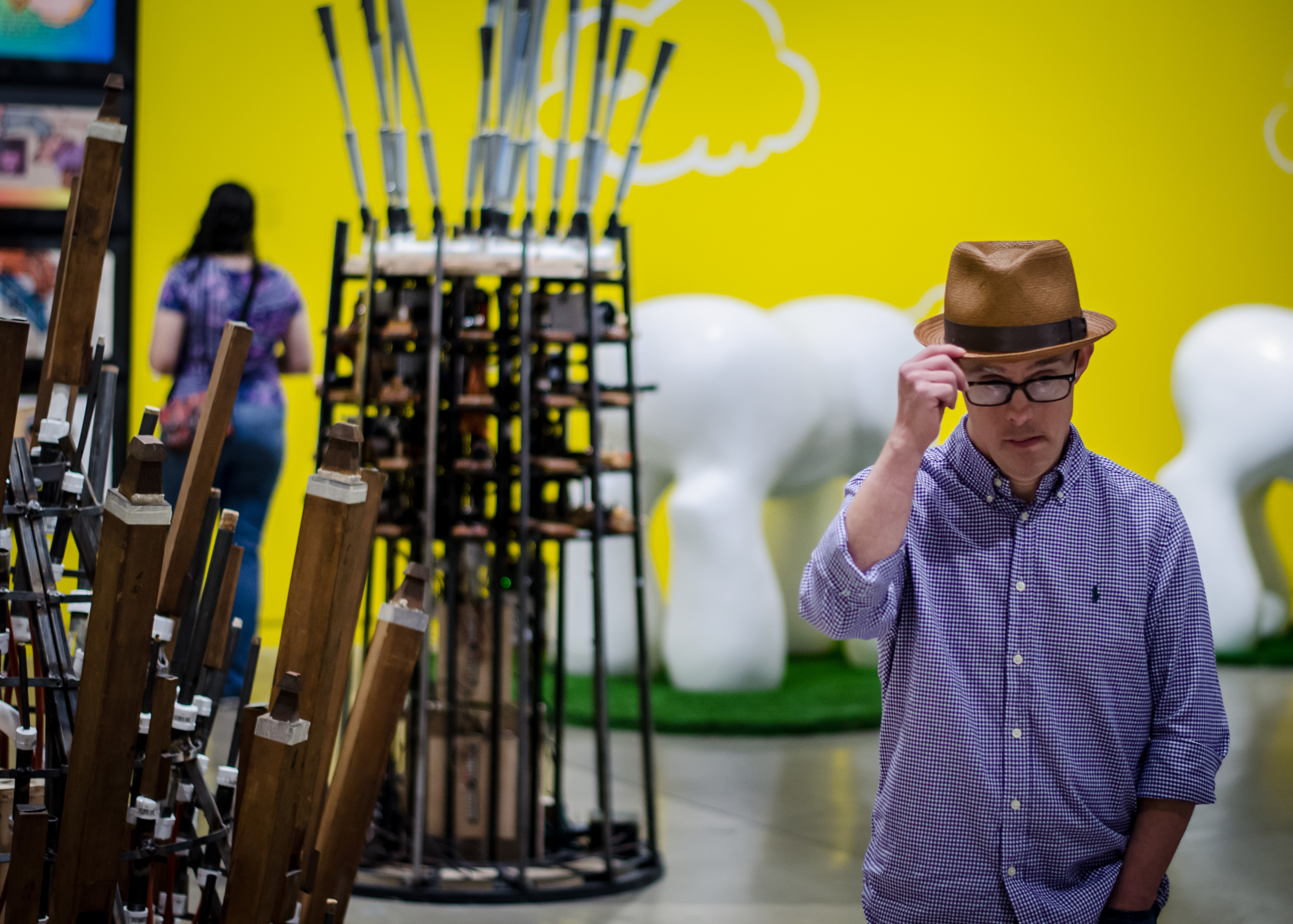 Brandon checked out the  MARK MOTHERSBAUGH: MYOPIA  exhibition at The Contemporary Austin. He loved it!