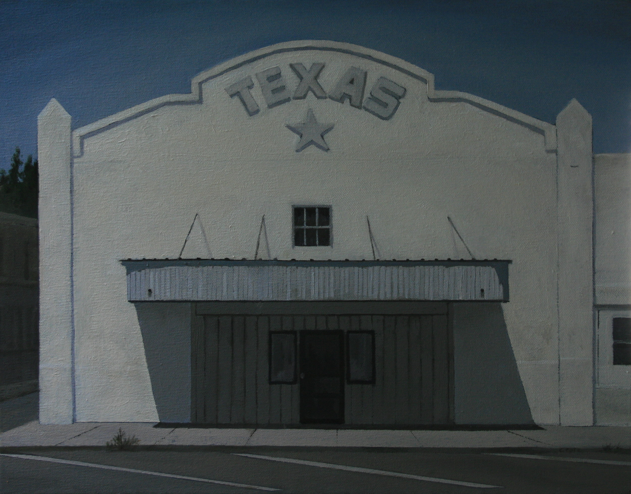 "Marfa Theater   Oil on Canvas  14"" X 18""  Available"