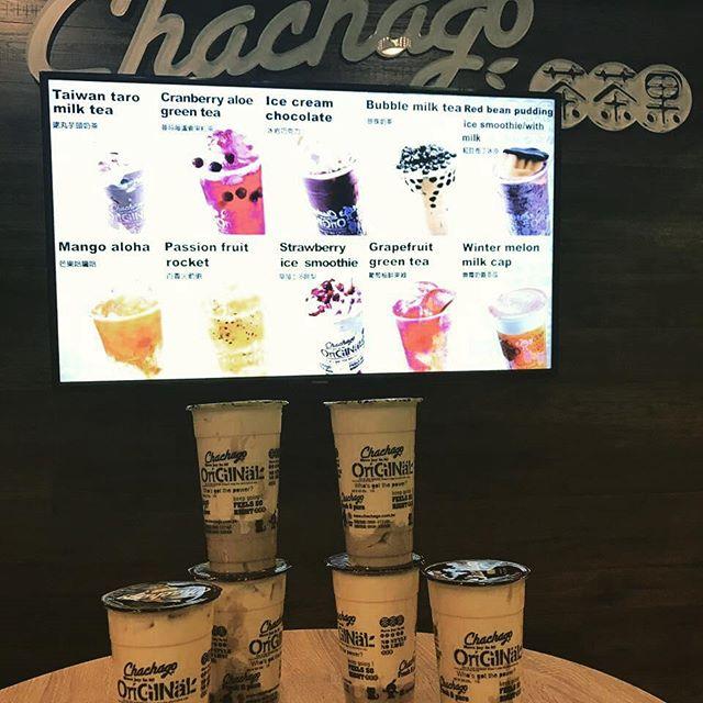 Chachago signature drink Taiwan Taro milk tea!! #milktea #chachagotoronto #bubbletea #bubblewaffle #commercegate #taromilktea #toronto #richmondhill