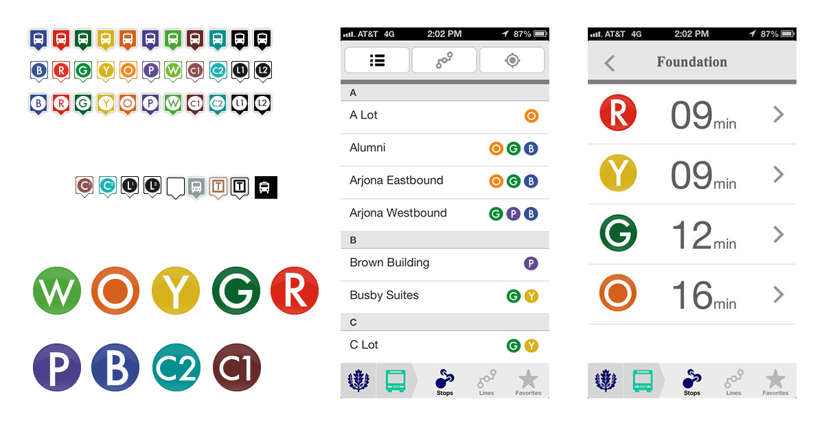 Created to help students, faculty and visitors navigate the University of Connecticut Campus.