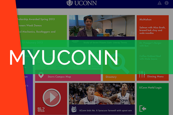 MyUConn Mobile Application   Helped design the user interface of many apps for the University of Connecticut focus on user experience.