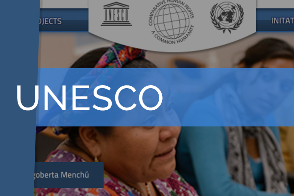 UNESCO Chair    Culture and human rights are represented in this website built using a WordPress CMS and custom design.