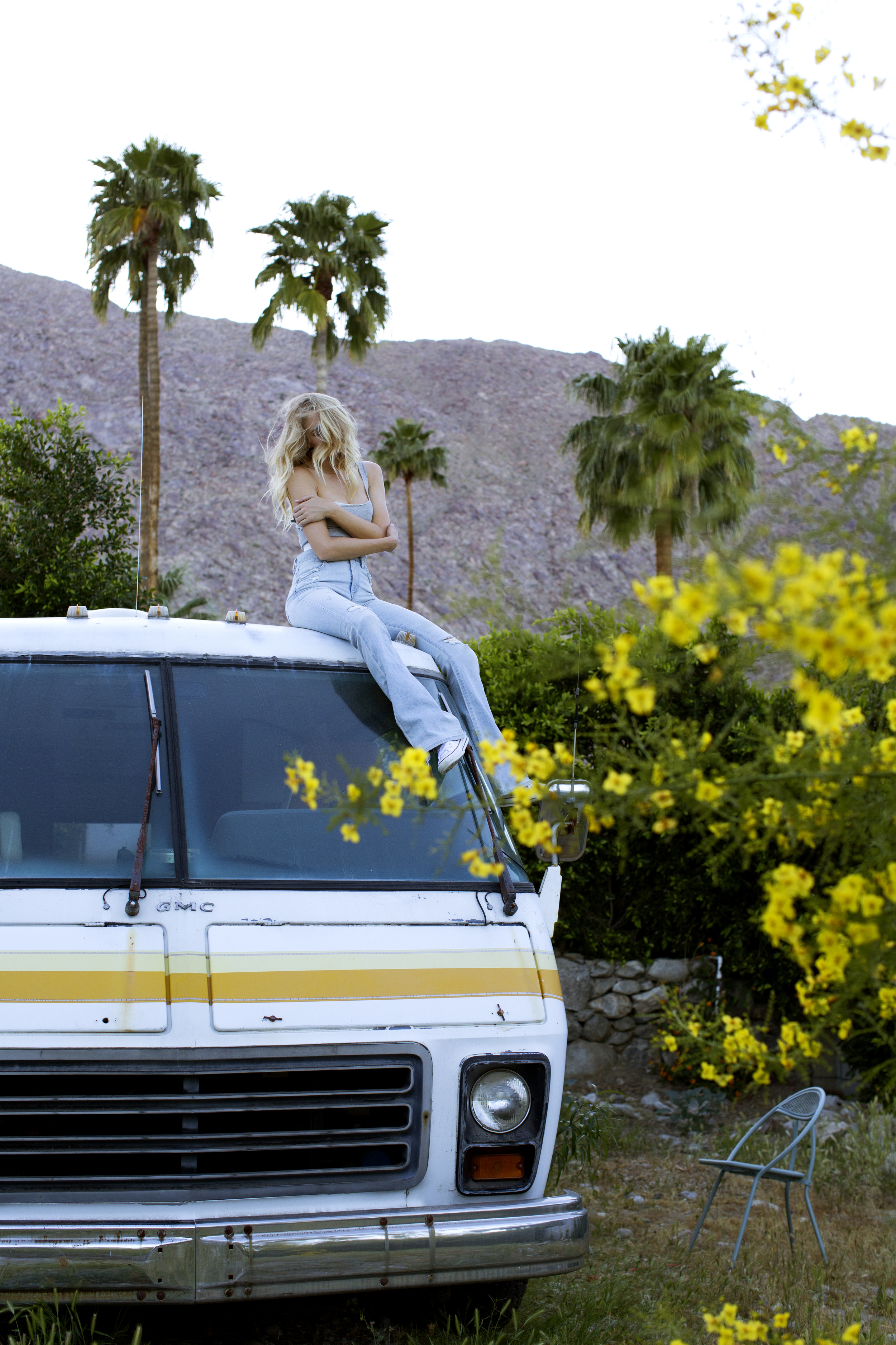 Tracy Kristin in Palm Springs by Paulina Perrucci wearing Shop Camp