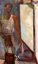 Self Portrait, Oil on canvas, 60 x 36, 2001