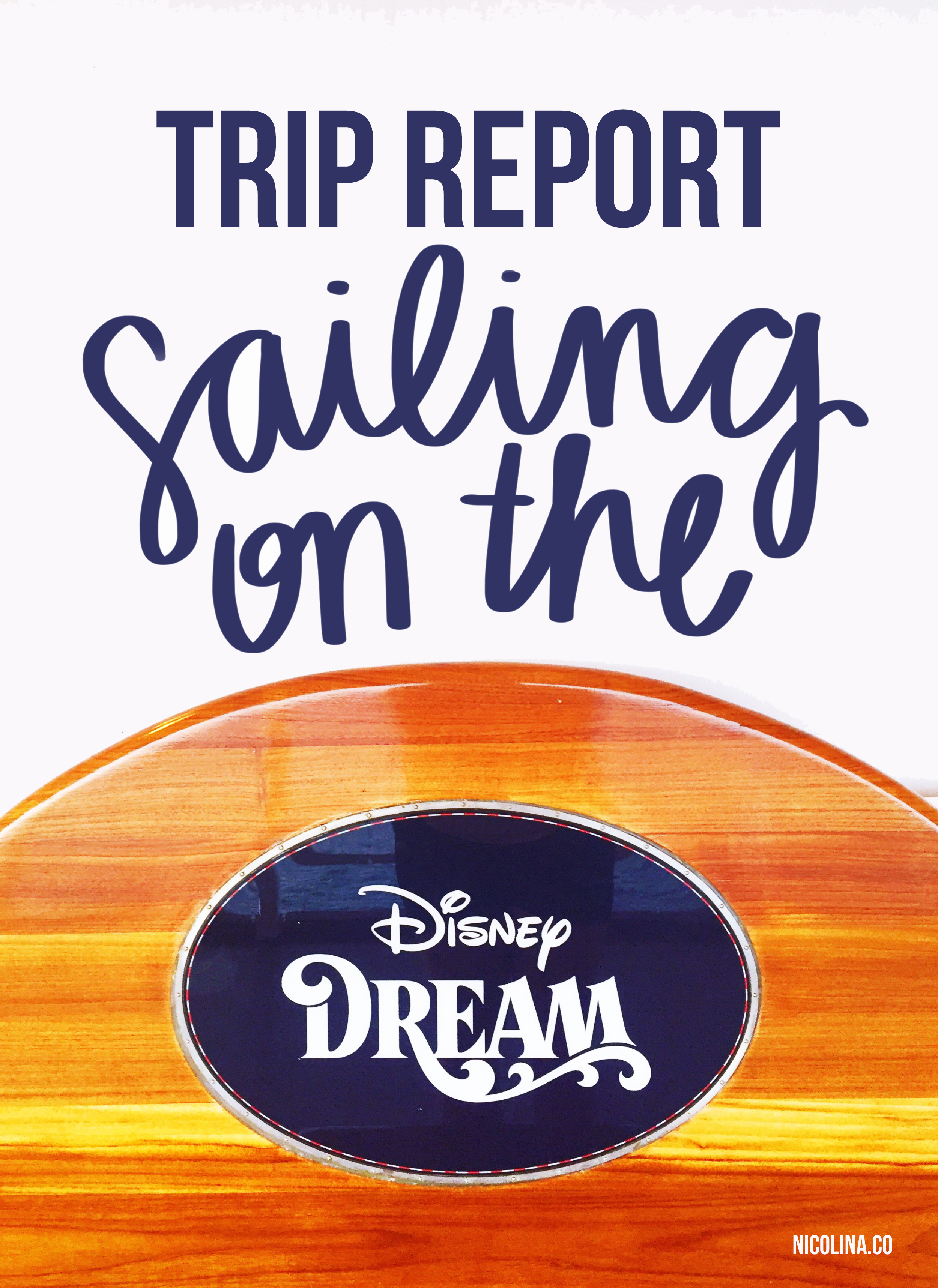 Trip Report - Sailing on the Disney Dream