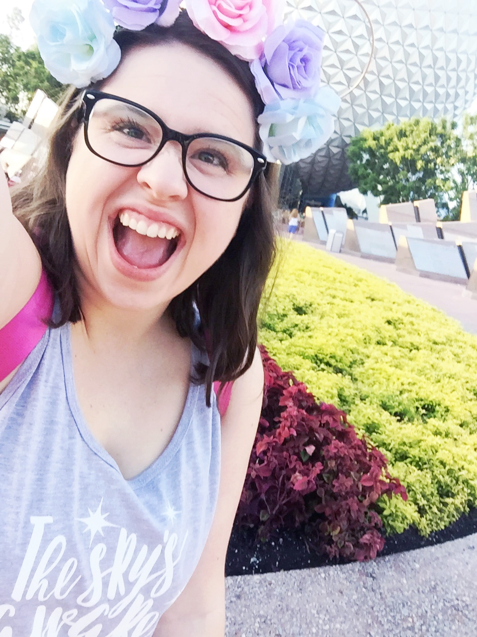 Pumped for an Epcot morning!