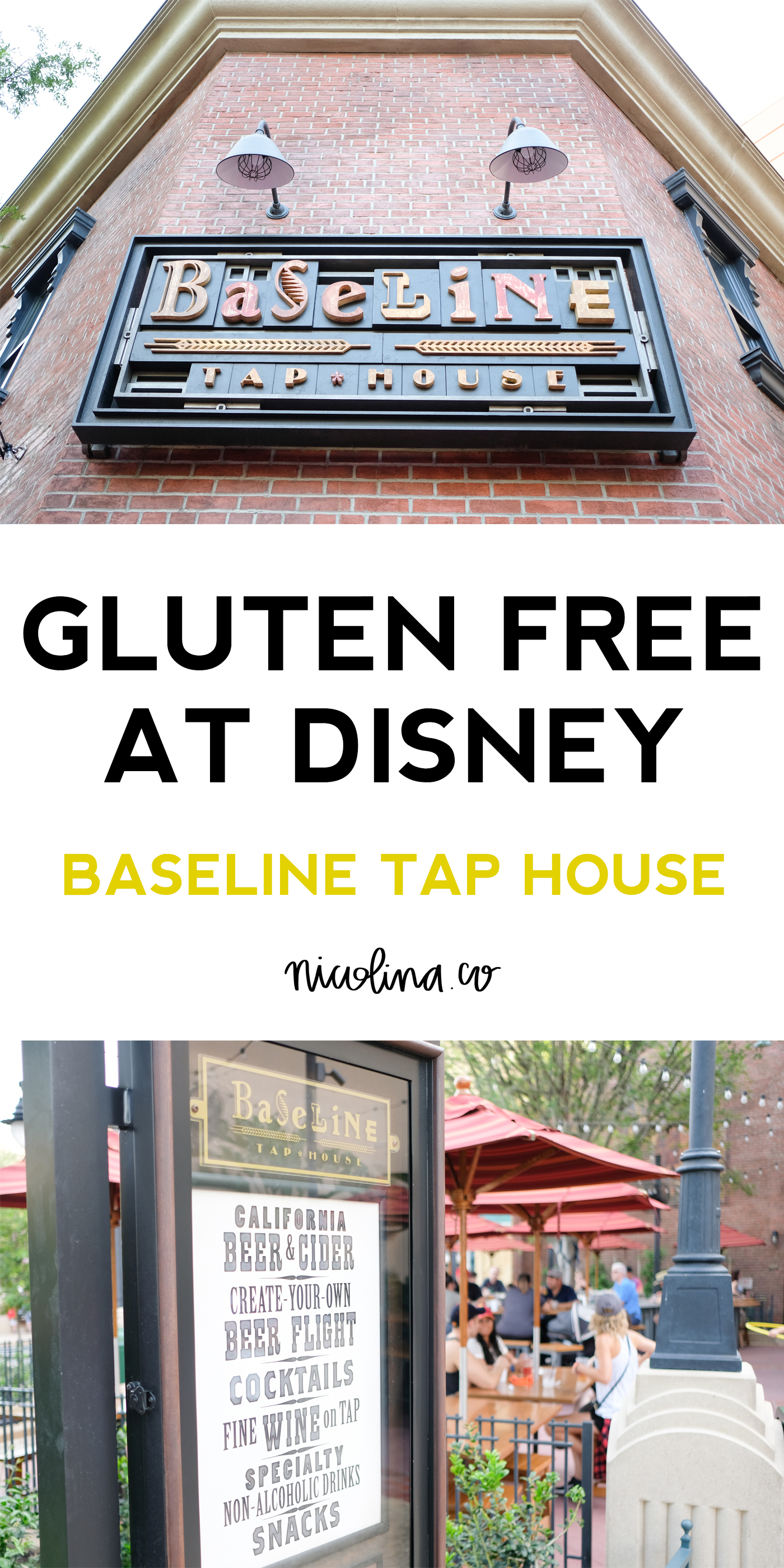 Gluten Free at Disney Baseline Tap House