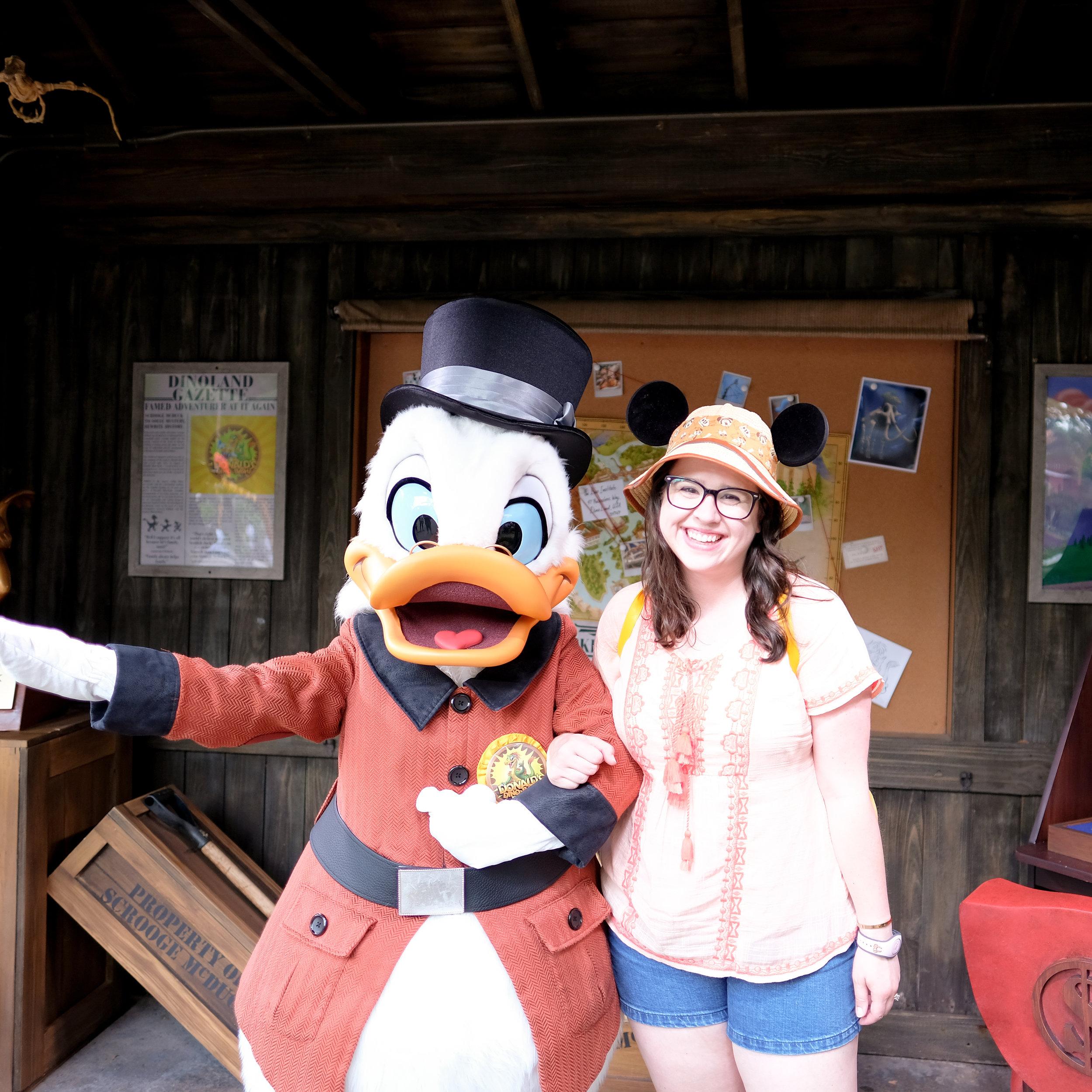 Scrooge McDuck Meet and Greet at Animal Kingdom