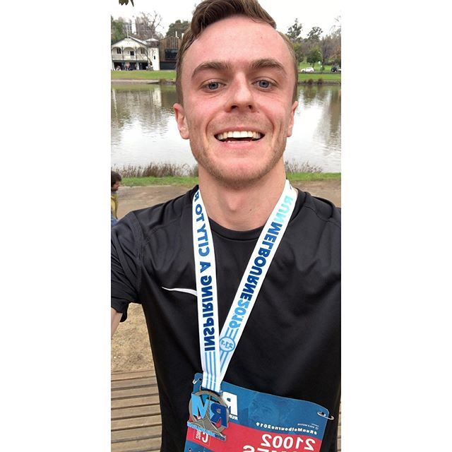 Absolutely stoked to finish my first half just in just under 2 hours 🥳 #runmelbourne2019