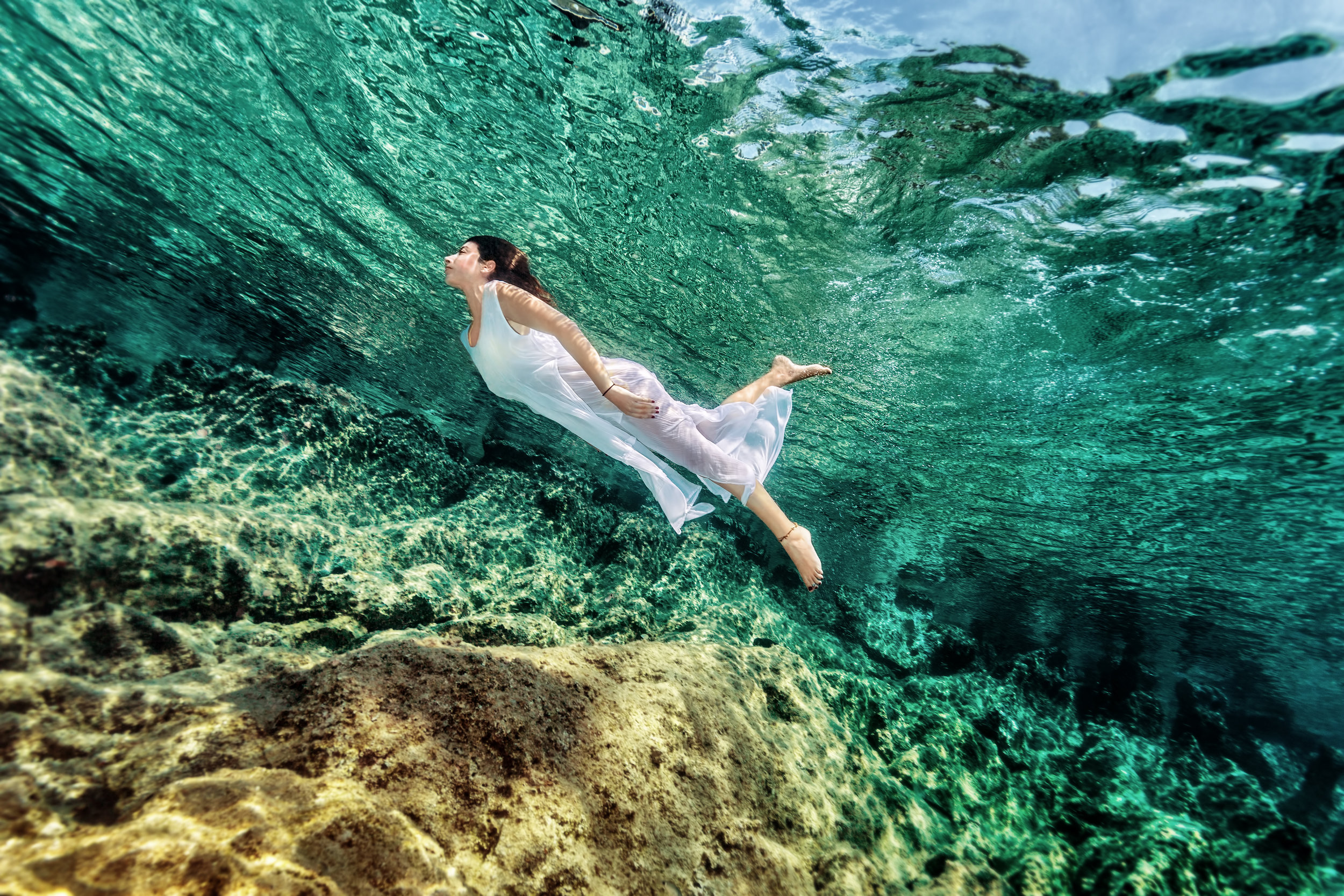 She is an ocean -