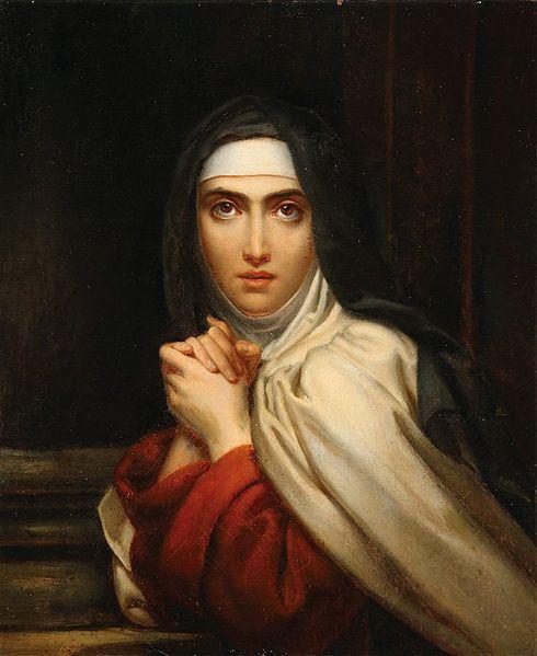 François Gérard. Sainte Thérèse.  Public Domain Image .
