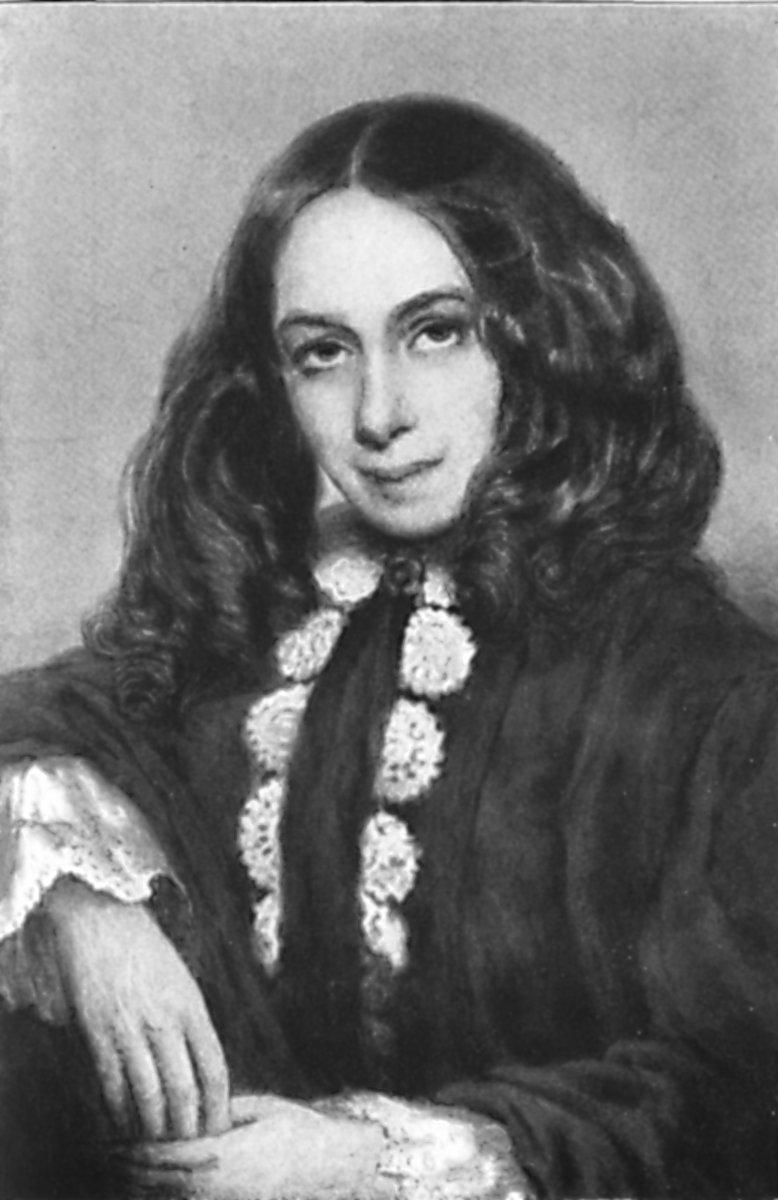 Elizabeth Barret Browning.  Public Domain Image .