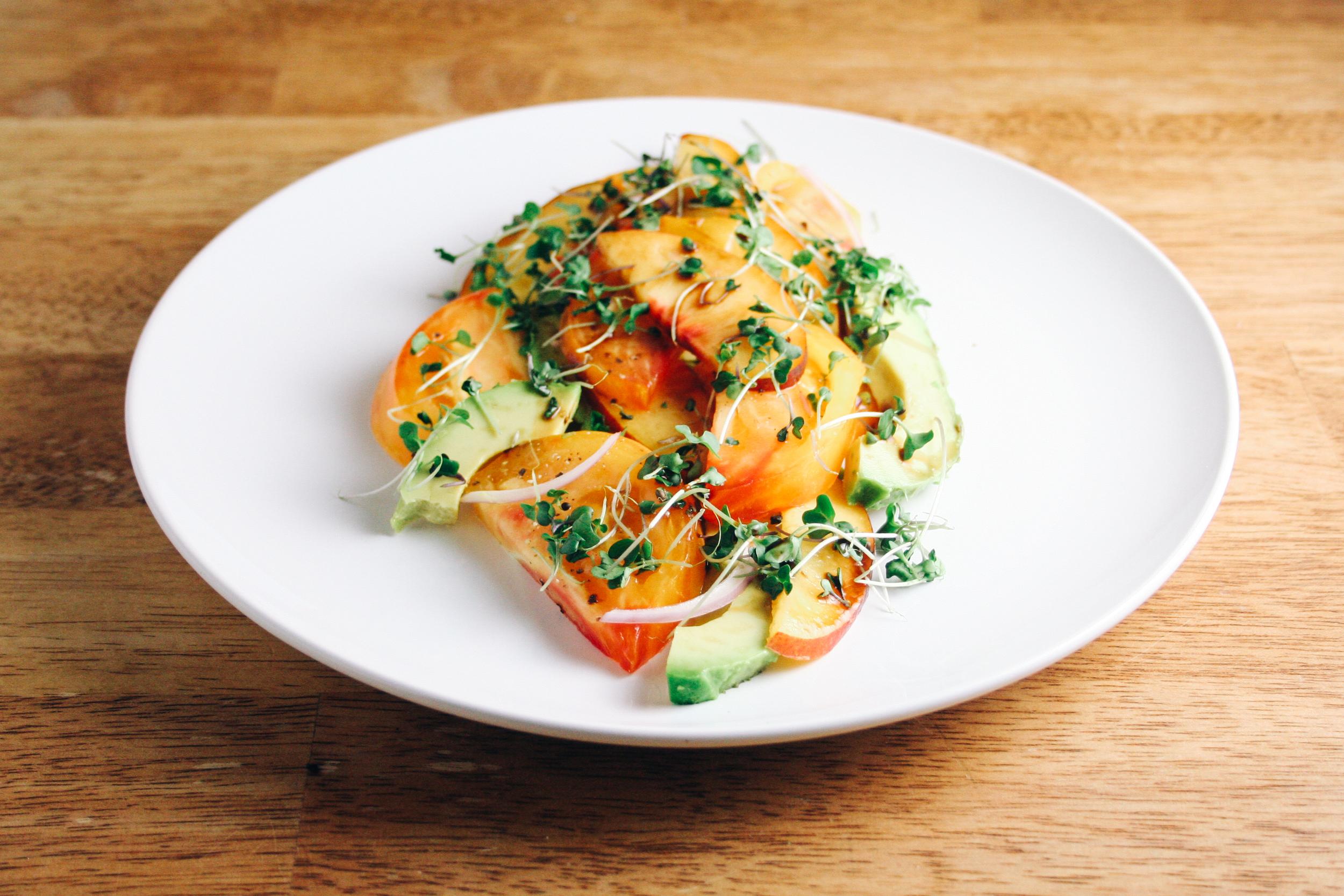 Heirloom Tomato, Nectarine, and Avocado Salad