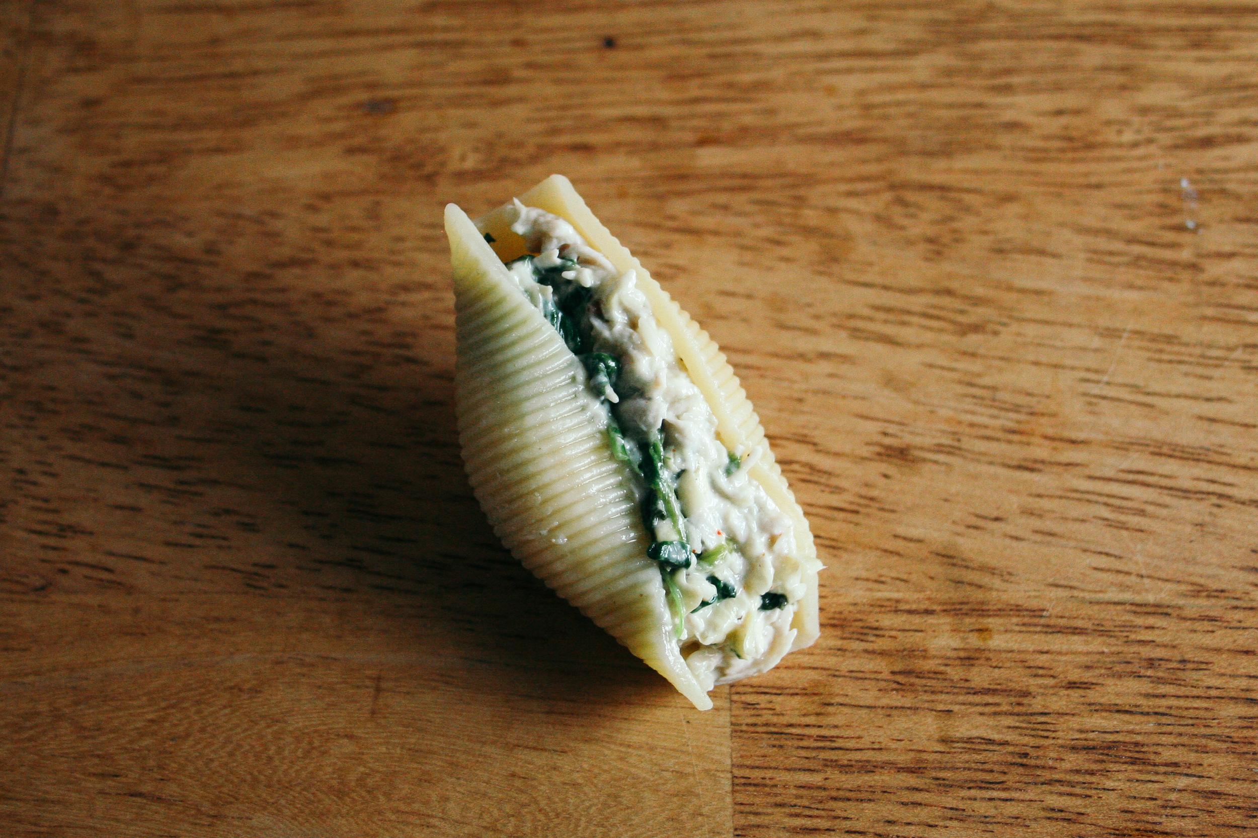 chicken spinach artichoke stuffed shells mozzarella cream cheese