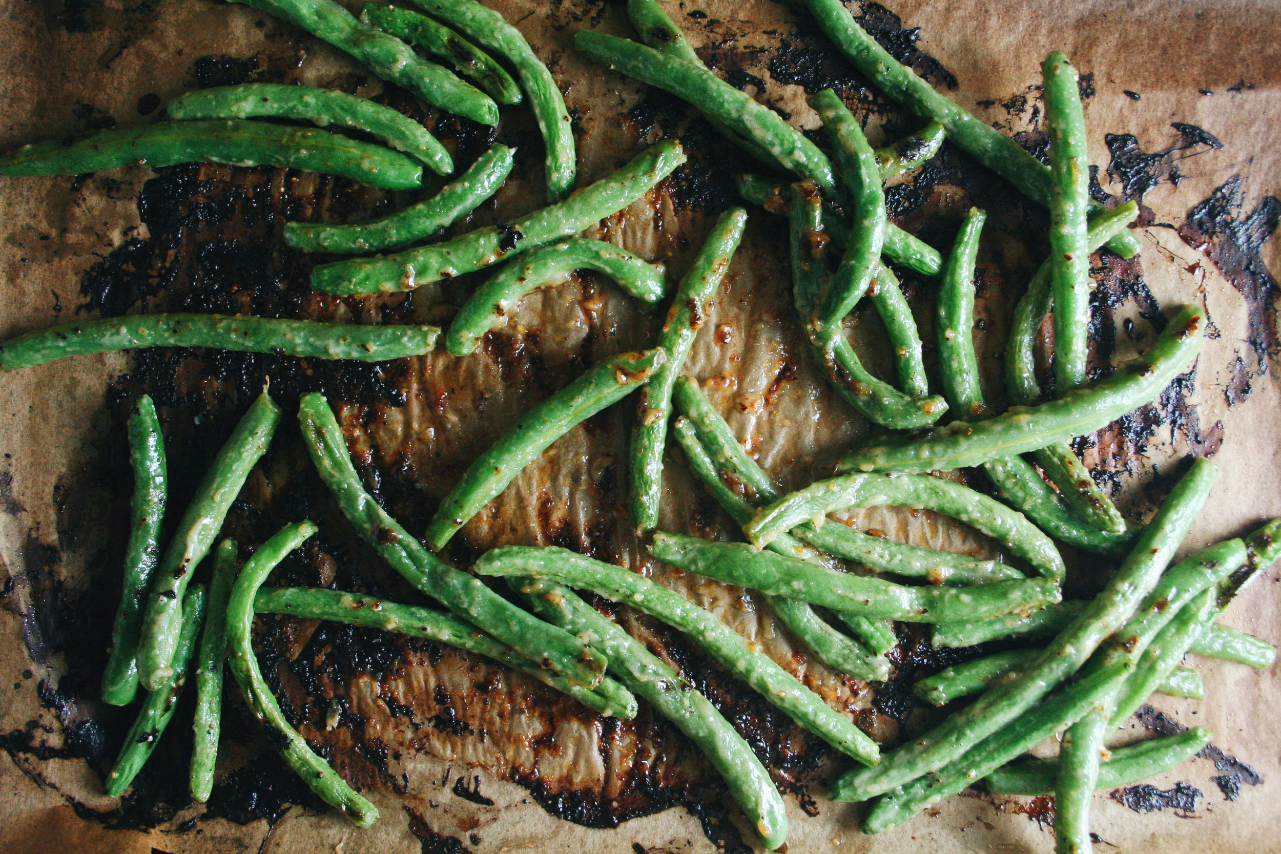 The City Skillet | Miso Mayo Blistered Green Beans