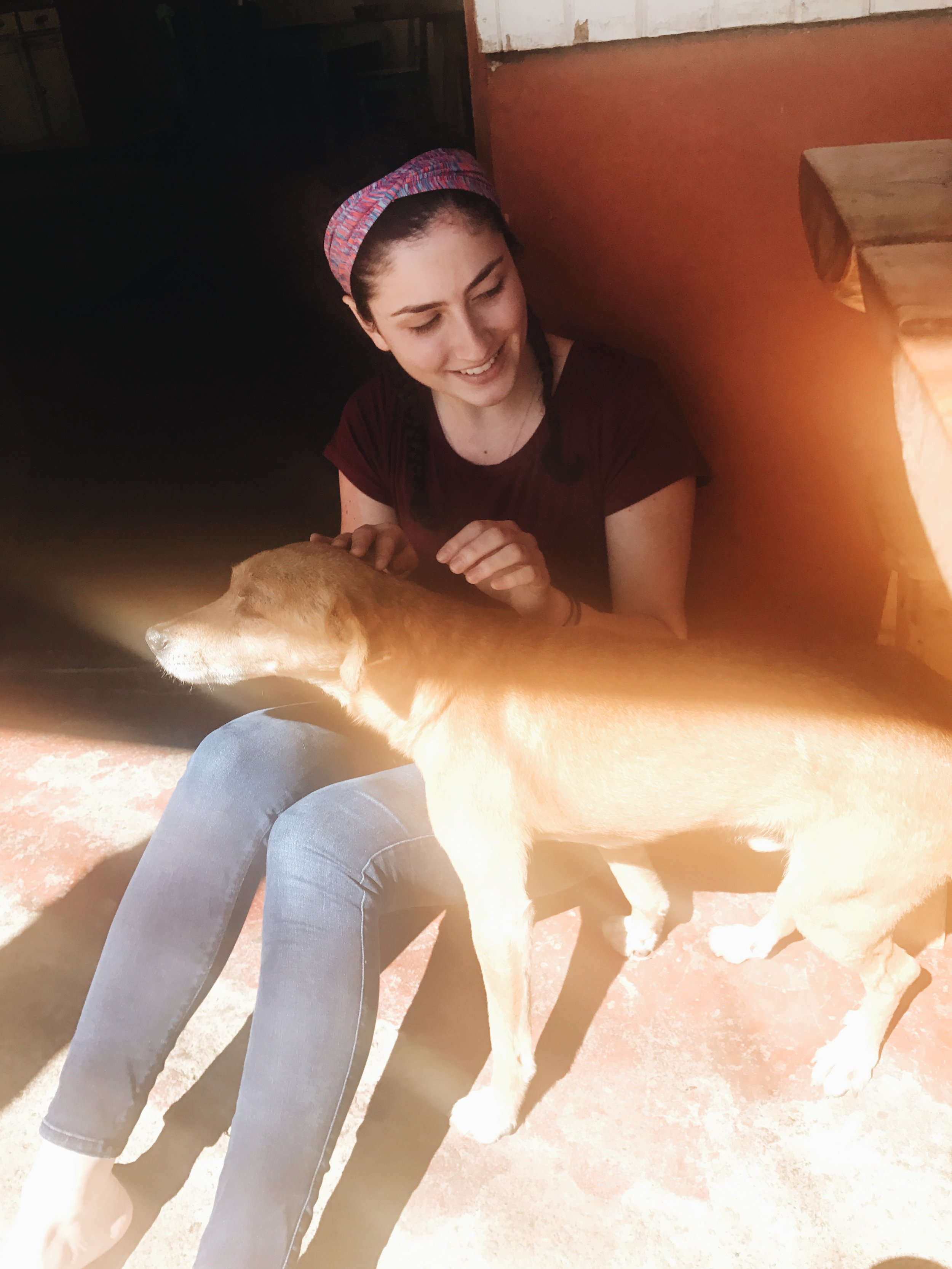 Mel and her perrito