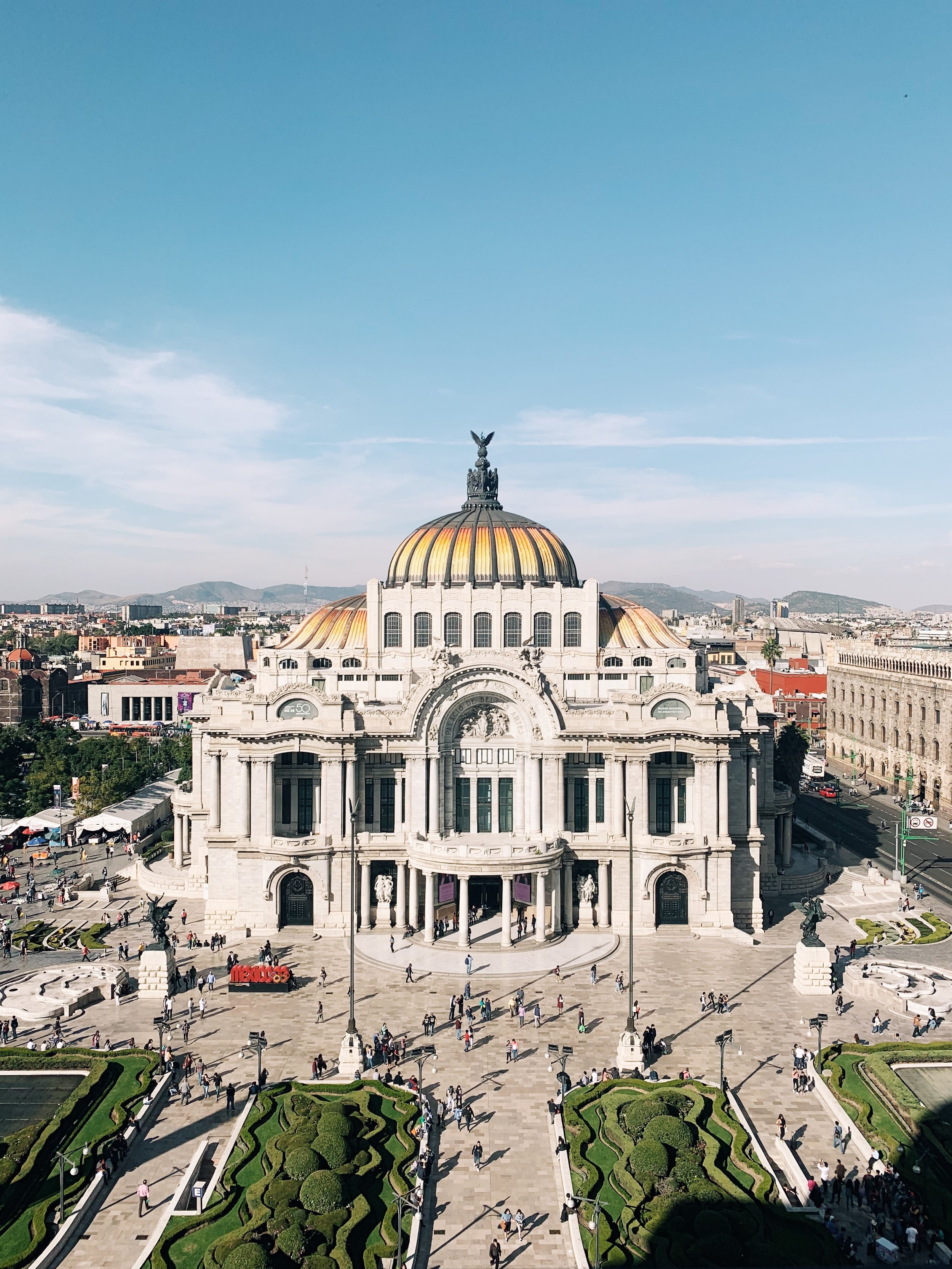 Palacio de Bellas Artes  // Taken from the rooftop cafe at Sears (overpriced coffee, but well worth it for the view).