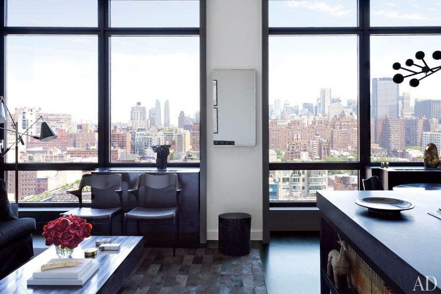 Gilles Mendel's Black and White Chelsea Apartment