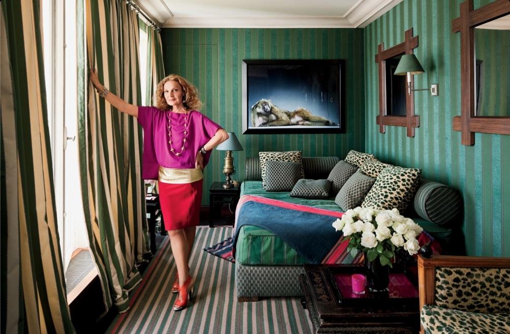 Diane von Furstenberg's Paris Apartment, Instyle