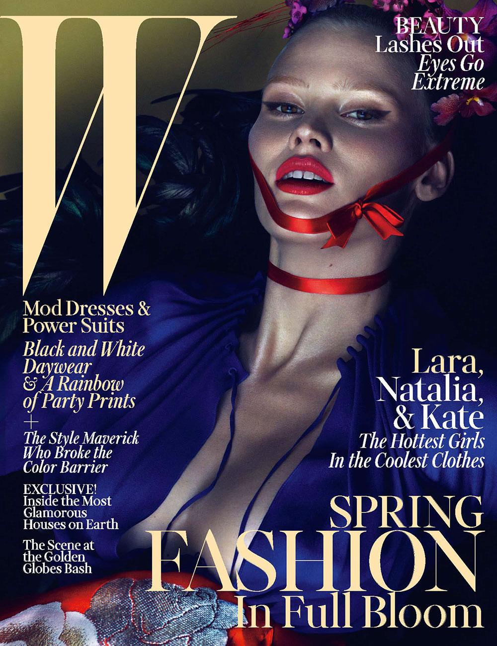 Lara Stone for W Magazine, March 2013