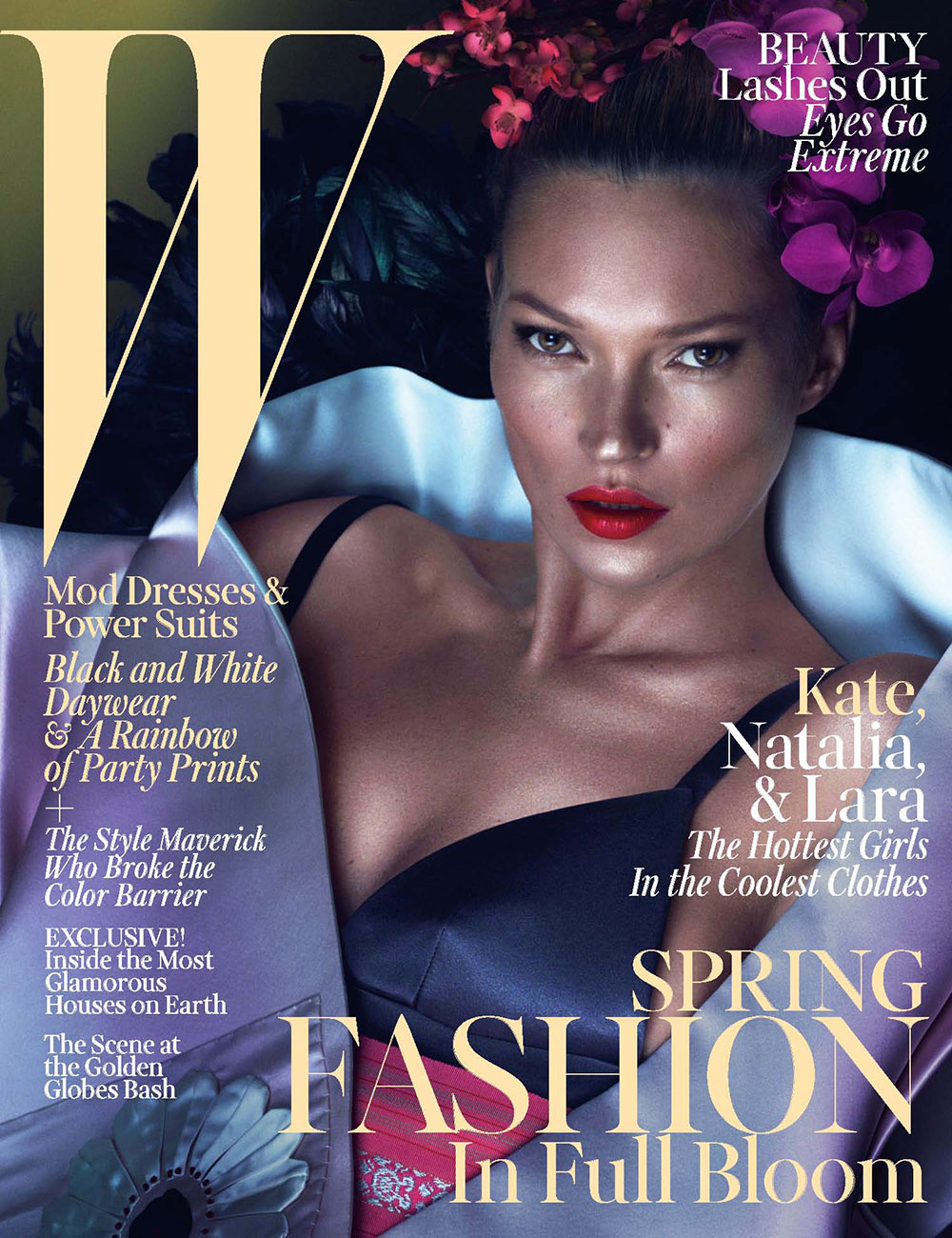 Kate Moss for W Magazine, March 2013