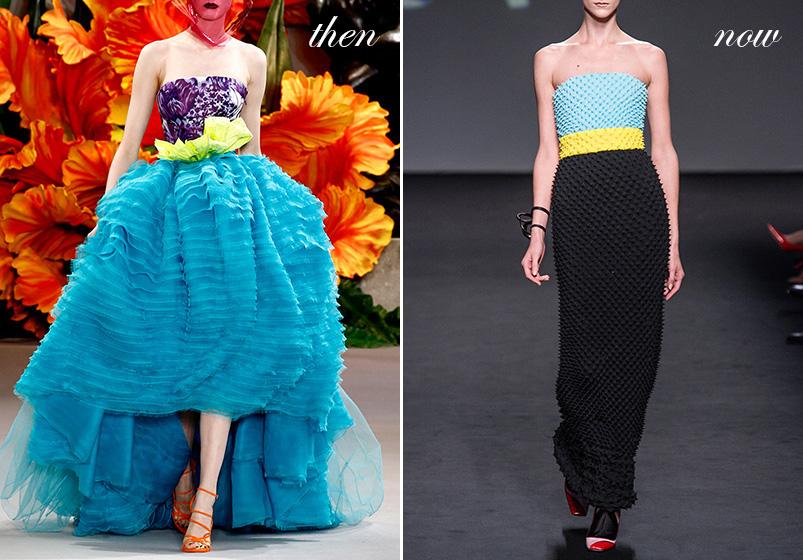 John Galliano's Dior, circa 2010, vs. Raf Simons'