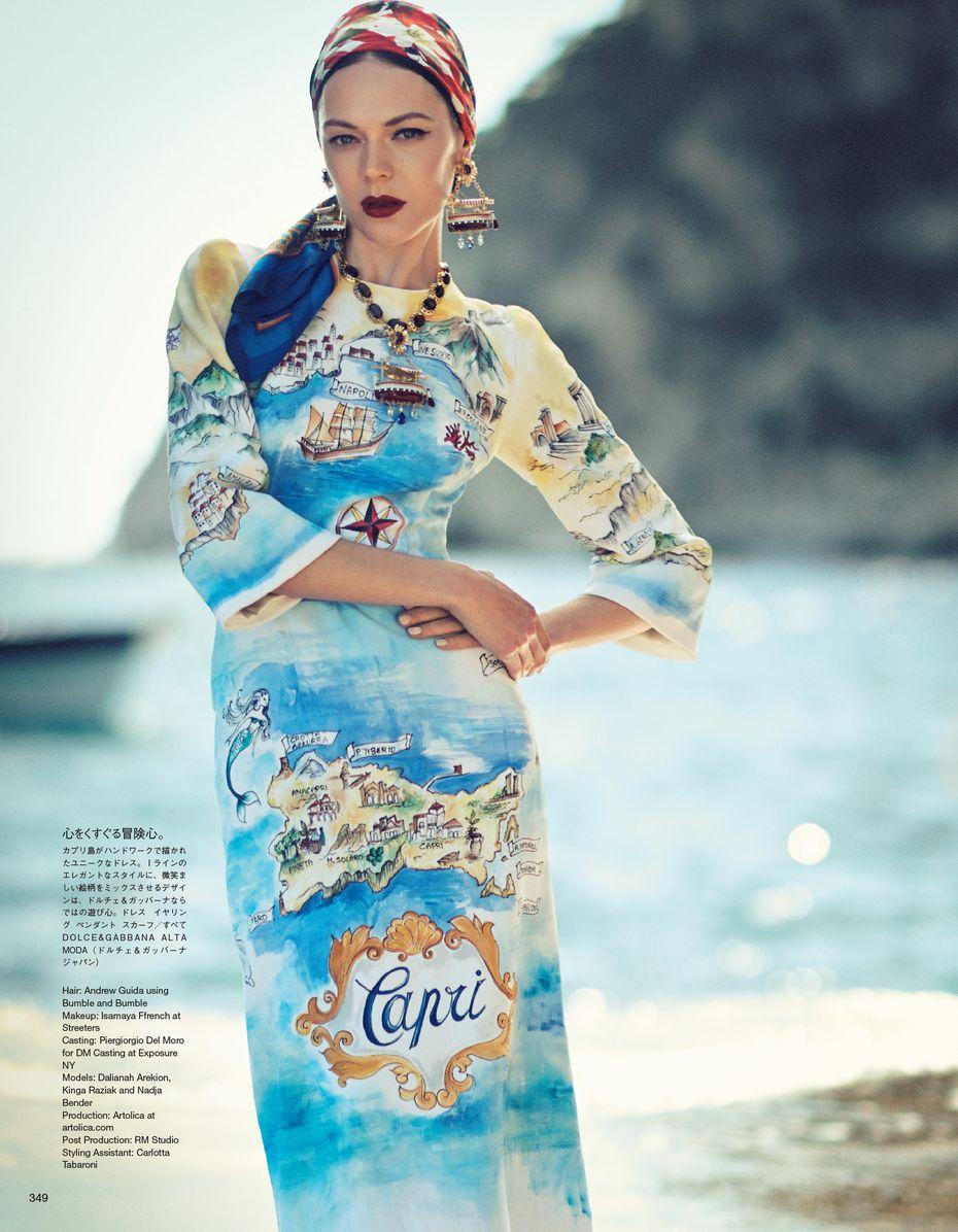 Dolce & Gabbana Alta Moda Fall Winter 2014, Vogue Japan, Oct 2014